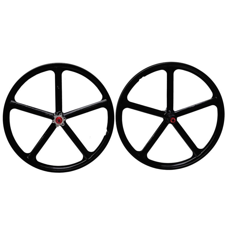 Paire de roues à bâtons en magnésium
