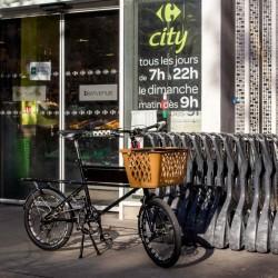 Panier shopping pour vélo