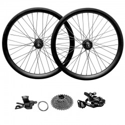 Wheel Set with Shimano Deore 10 speeds Derailleur and Shifter