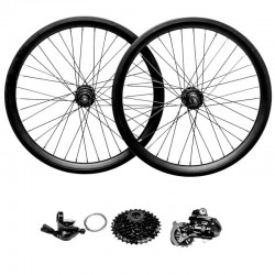 Wheel Set with Shimano Altus 8 Speeds Derailleur and Shifter