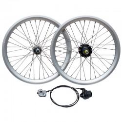 Wheel Set with internal gears hub 3 Speeds