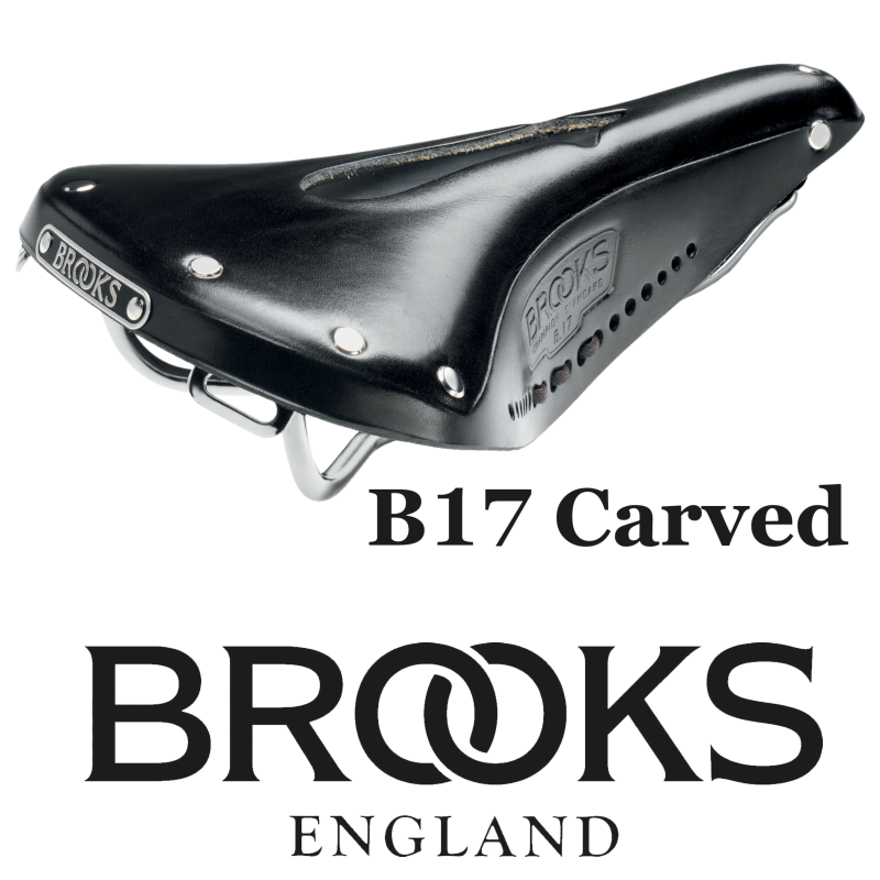 Brooks B17 Carved Noire